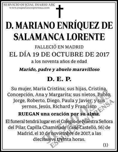 Mariano Enríquez de Salamanca Lorente